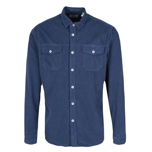Camasa regular fit albastru inchis din material raiat ONeill