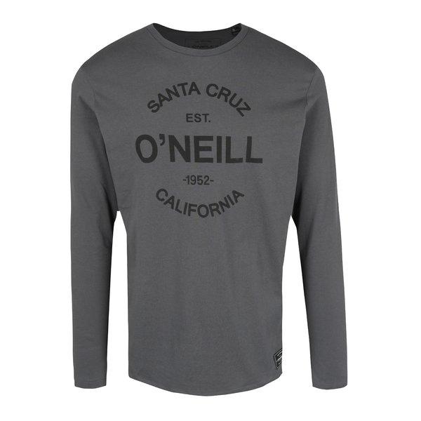 Bluza regular fit gri&negru cu print logo ONeill