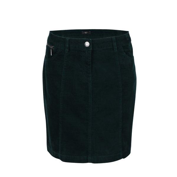 Fusta mini verde inchis din material reiat M&Co