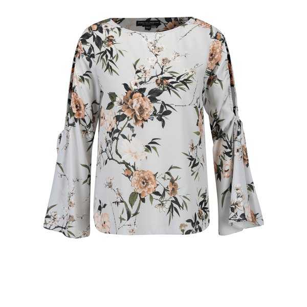 Bluza cu print floral si maneci cu decupaje Dorothy Perkins