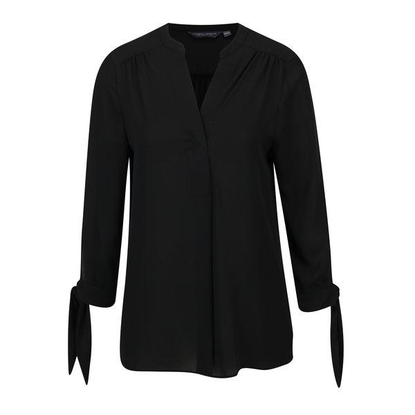 Bluza neagra cu funde la mansete Dorothy Perkins Tall