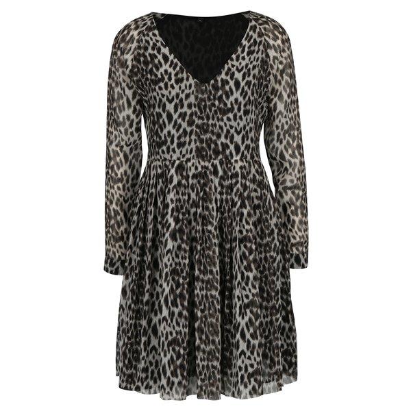 Rochie crem cu print leopard Pepe Jeans MARY