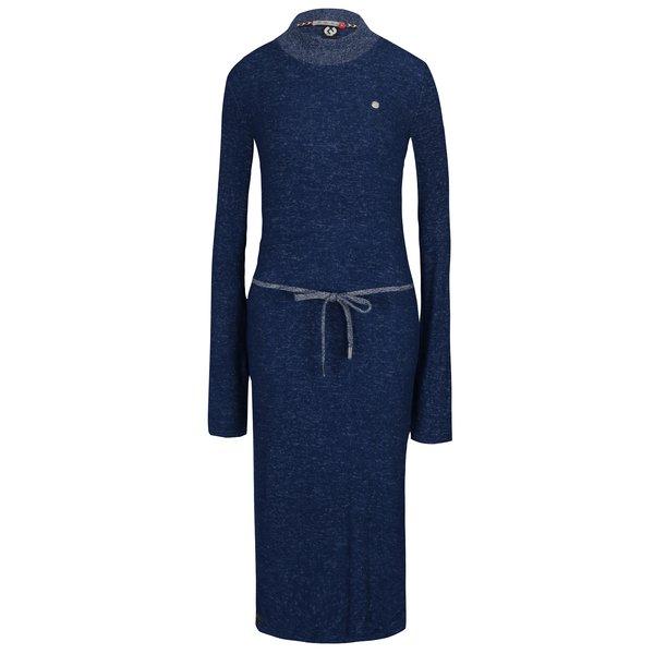 Rochie pulover maxi albastru melanj Ragwear Provence