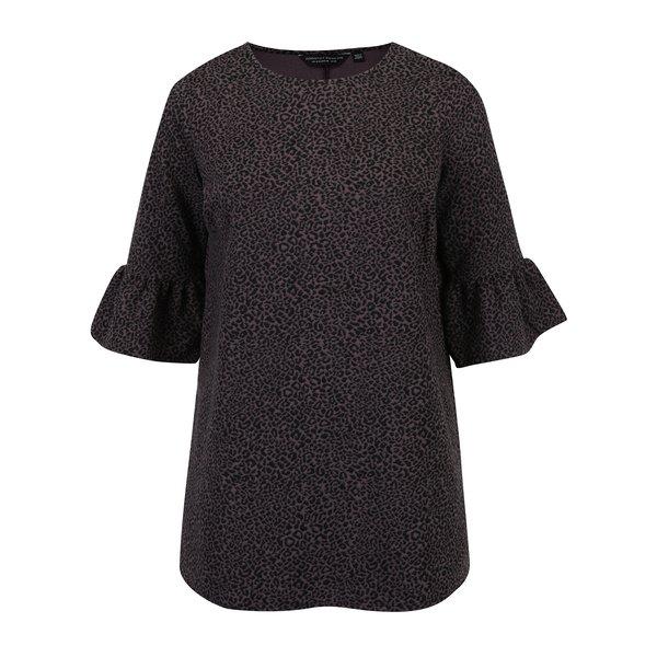 Bluza cu animal print si maneci clopot Dorothy Perkins Curve