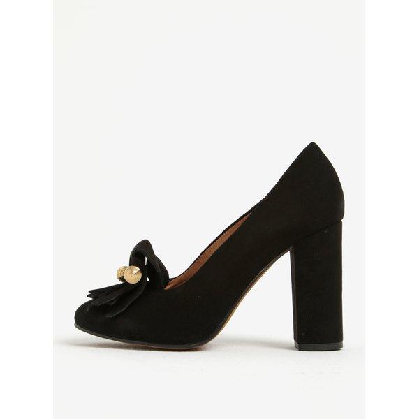 Pantofi din piele întoarsă cu toc pătrat Selected Femme Mel