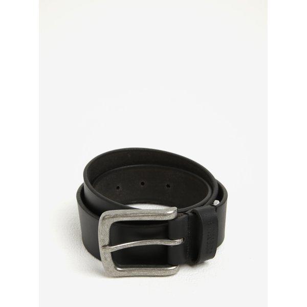 Curea neagra din piele naturala cu catarama argintie pentru barbati - Pepe Jeans New Balkio