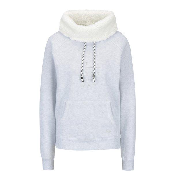 Bluza gri cu guler inalt din blana artificiala Hailys Karina