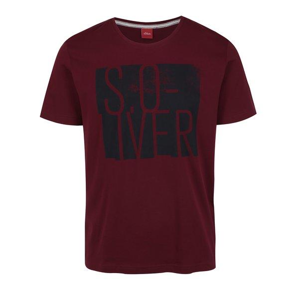 Tricou visiniu regular fit cu print pentru barbati s.Oliver