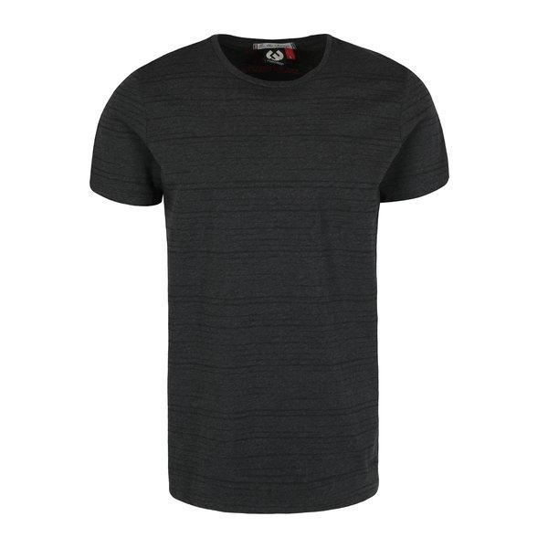 Tricou gri inchis & negru melanj cu print in dungi - Ragwear Skywatch
