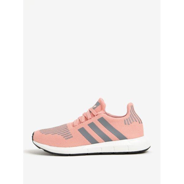 Pantofi sport roz cu gri pentru femei adidas Originals Swift Run