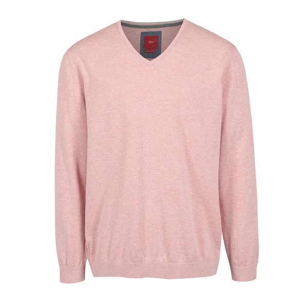 Pulover roz cu decolteu anchior pentru barbati s.Oliver