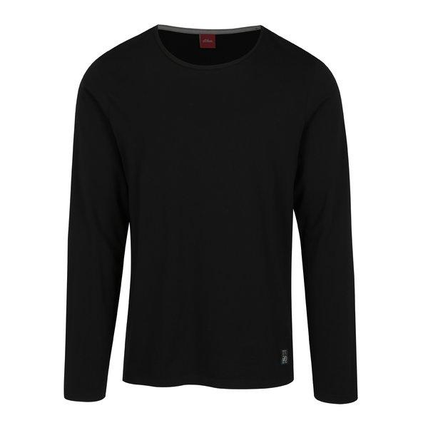 Bluza slim fit neagra pentru barbati s.Oliver