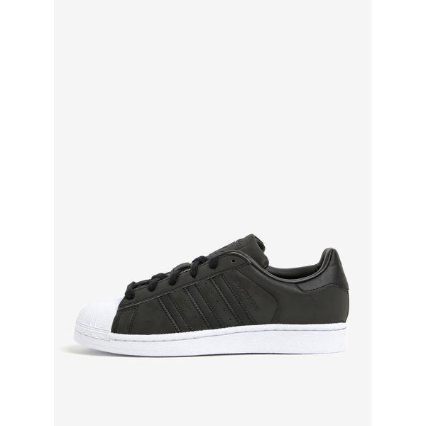 Pantofi sport negri cu varf alb pentru femei adidas Originals Superstar