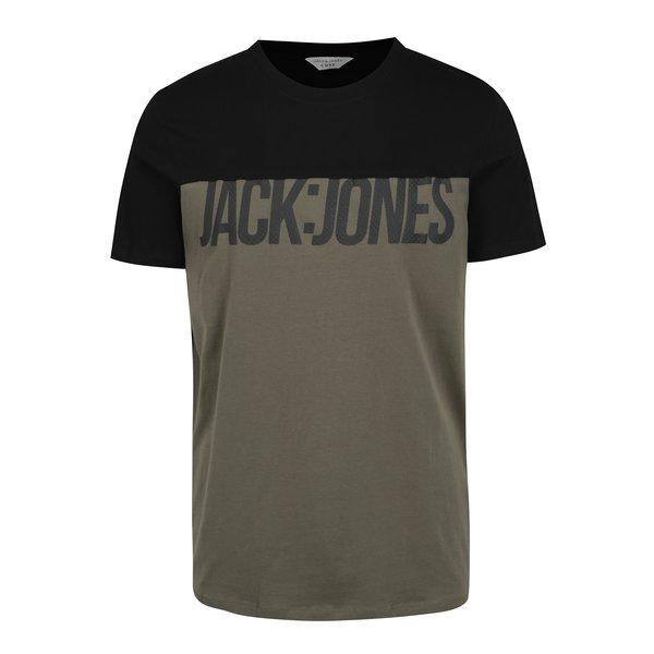 Tricou kaki cu print Jack & Jones Char
