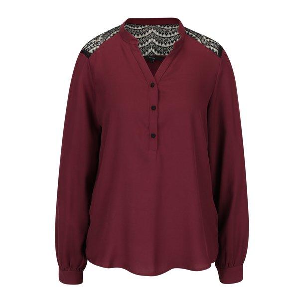 Bluza bordo cu detalii din dantela - VERO MODA Sharpa