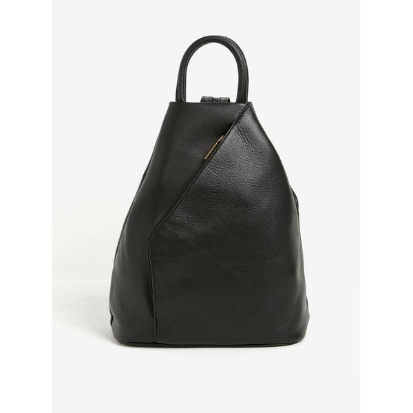 Rucsac negru tip geanta din piele naturala pentru femei – KARA