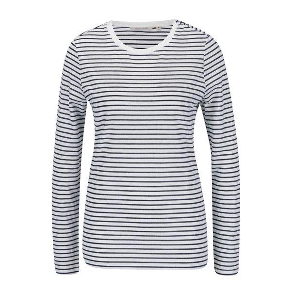 Bluza alb prafuit & bleumarin cu print in dungi - Garcia Jeans