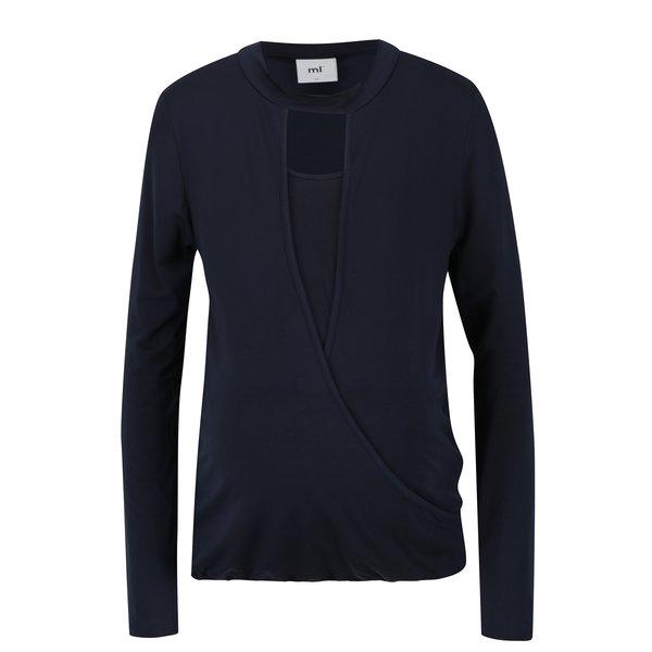 Bluza bleumarin cu decolteu pentru alaptare Mama.licious Marcel