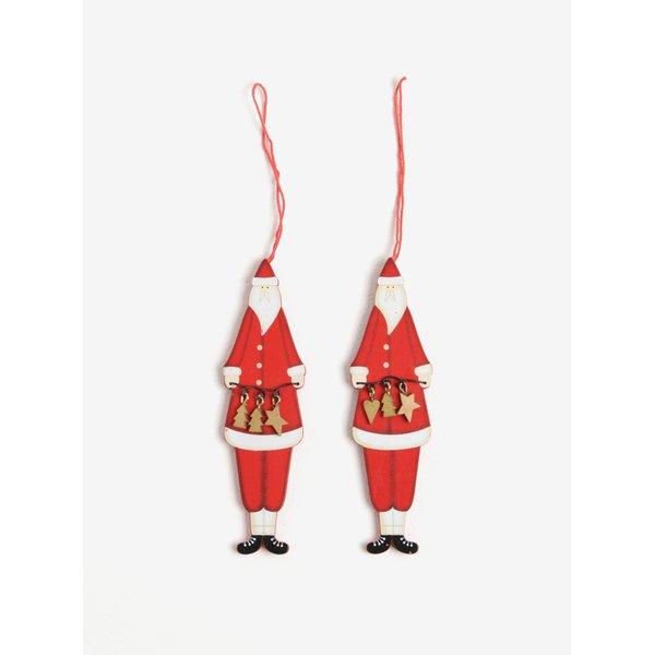 Set de 2 decoratiuni Mos Craciun – Sass & Belle Nordic Santa
