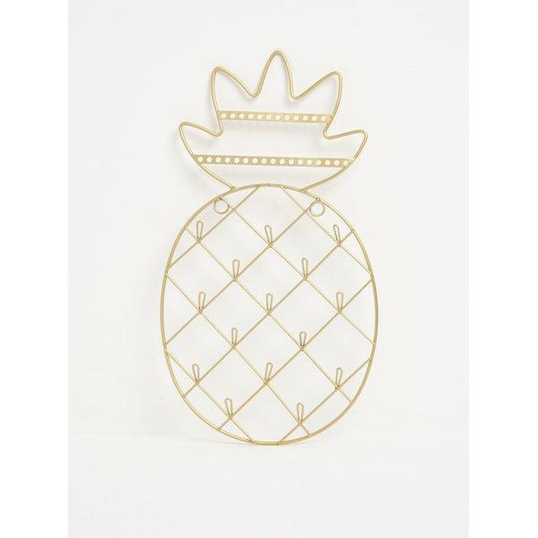 Suport auriu suspendat sub forma de ananas pentru bijuterii - Sass & Belle Gold Cactus