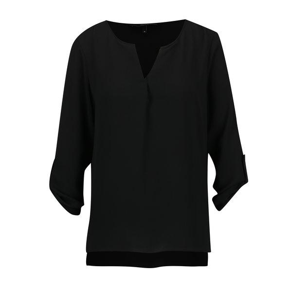 Bluza neagra cu maneci 3/4 - VERO MODA
