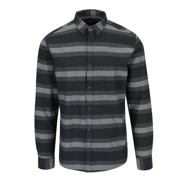 Camasa casual din bumbac cu dungi gri - ONLY & SONS Bror