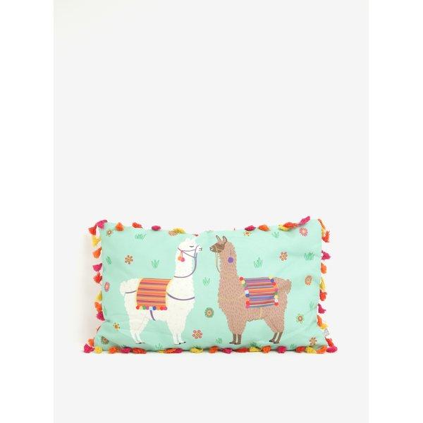 Perna decorativa dreptunghiulara cu ciucuri si print lame – Sass & Belle Lima Llama