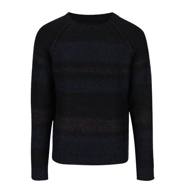 Pulover tricotat negru & bleumarin - ONLY & SONS Ollan