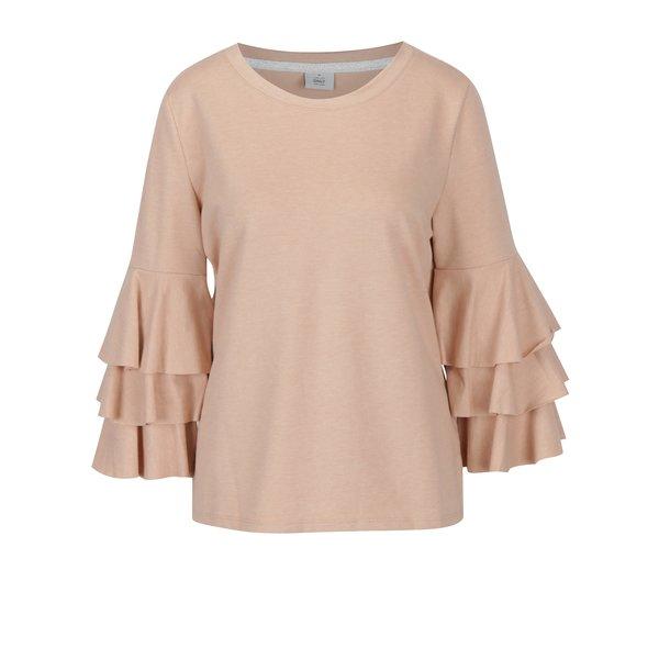 Bluza roz deschis cu volanase pe maneci - ONLY Ancona