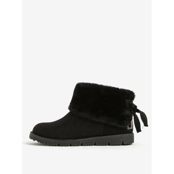 Ghete de iarna negre cu blana artificiala pentru femei - s.Oliver