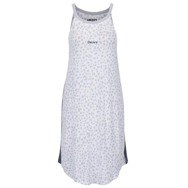 Camasa de noapte gri&crem cu print - DKNY