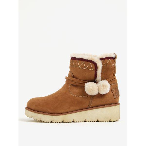 Ghete de iarna maro cu platforma si blana artificiala pentru femei - s.Oliver