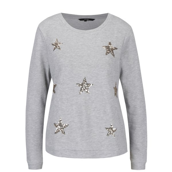 Bluza gri deschis cu stele aurii VERO MODA Funny