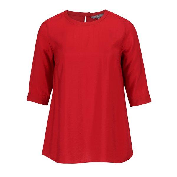 Bluza rosie cu maneci 3/4 si decupaj la spate Ulla Popken