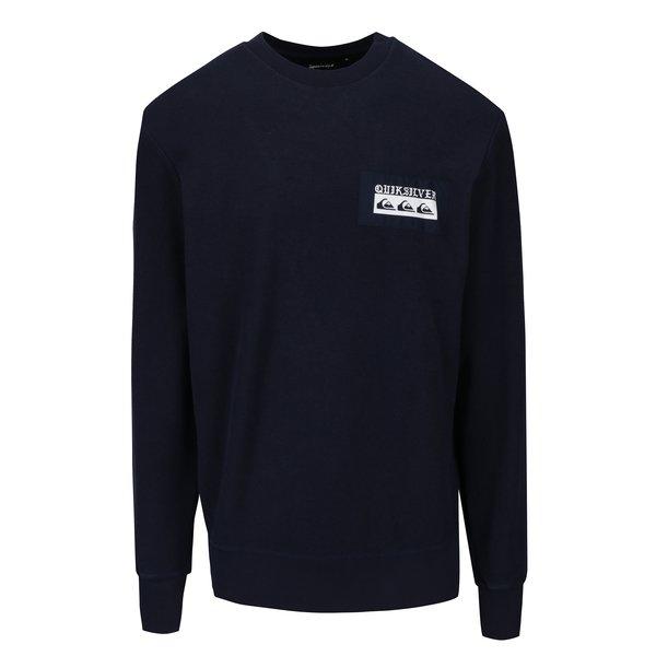 Bluza bleumarin&alb cu aplicatie pe spate si logo pentru barbati Quiksilver Spray Daze