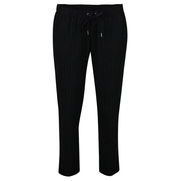 Pantaloni drepti negru&alb in dungi cu talie elastica pentru femei s.Oliver