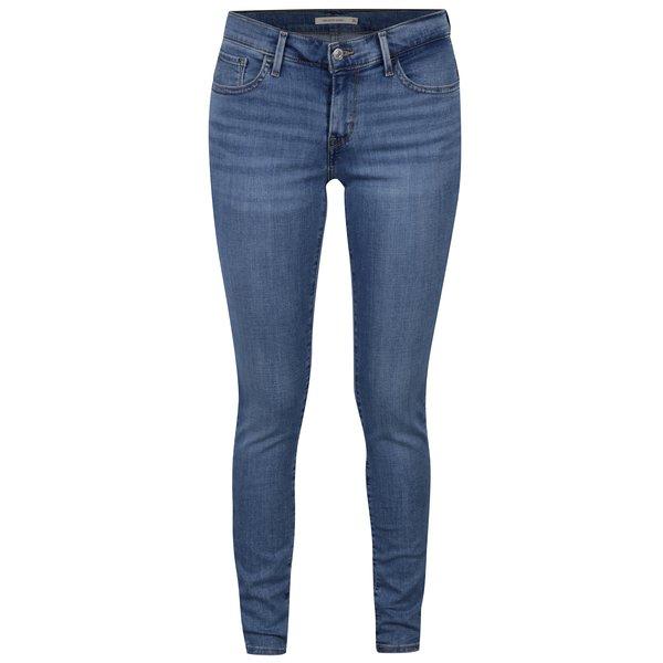 Blugi albastri super skinny pentru femei - Levis® Indigo Splash