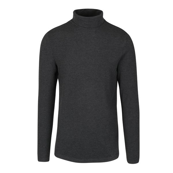 Bluza cu guler inalt gri melanj - Selected Homme Damian