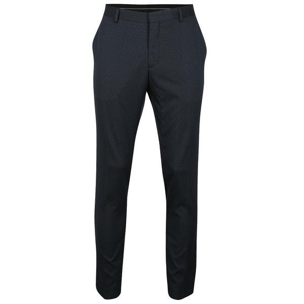Pantaloni bleumarin cu buline pentru costum - Selected Homme Done