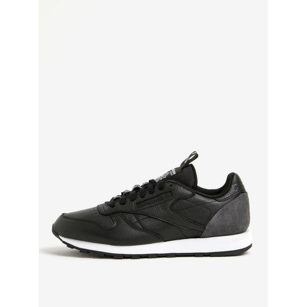 Pantofi sport negri din piele naturala pentru barbati - Reebok CLUB C 85 IT