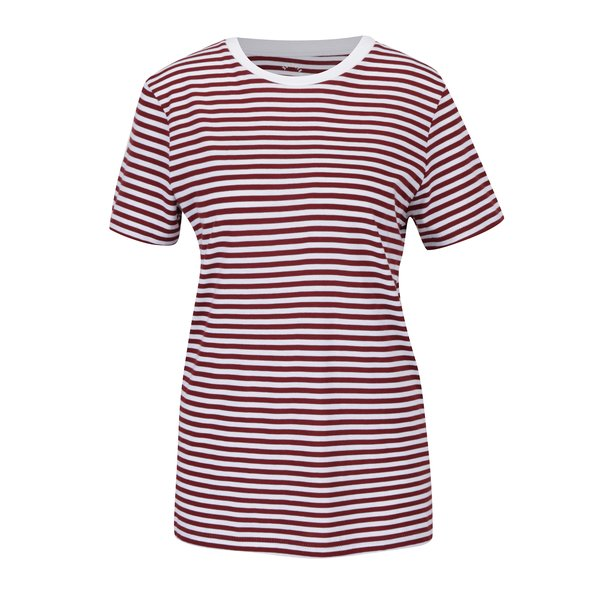 Tricou bordo&crem in dungi Selected Femme