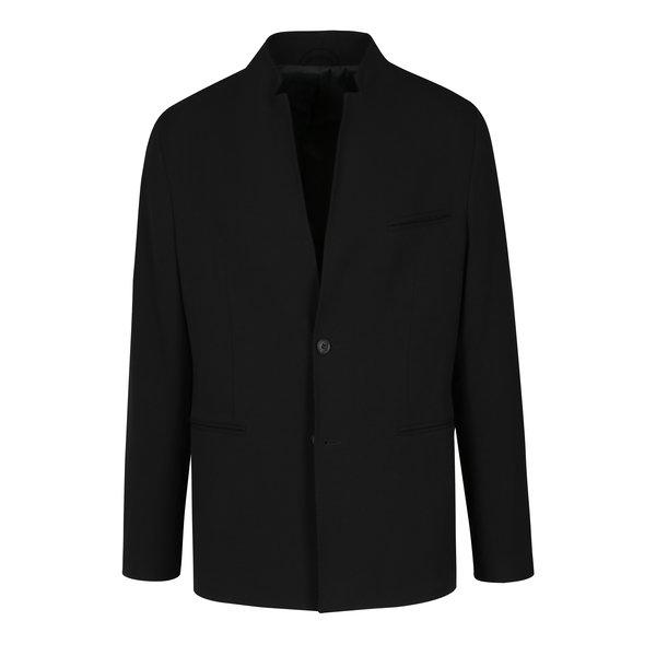 Sacou negru subtire cu revere stilizate - Selected Homme Done