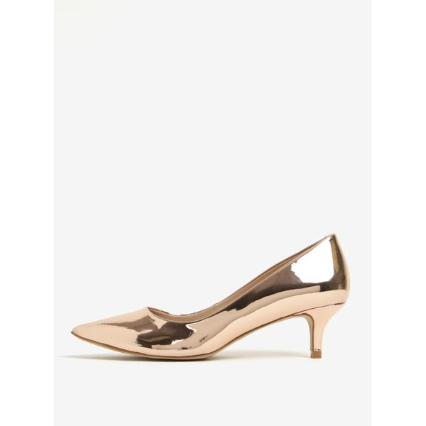 Pantofi glossy bronz cu toc - ALDO Sieria