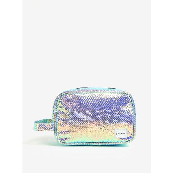 Geanta pentru cosmetice cu efect multicolor holografic - Spiral Holographic