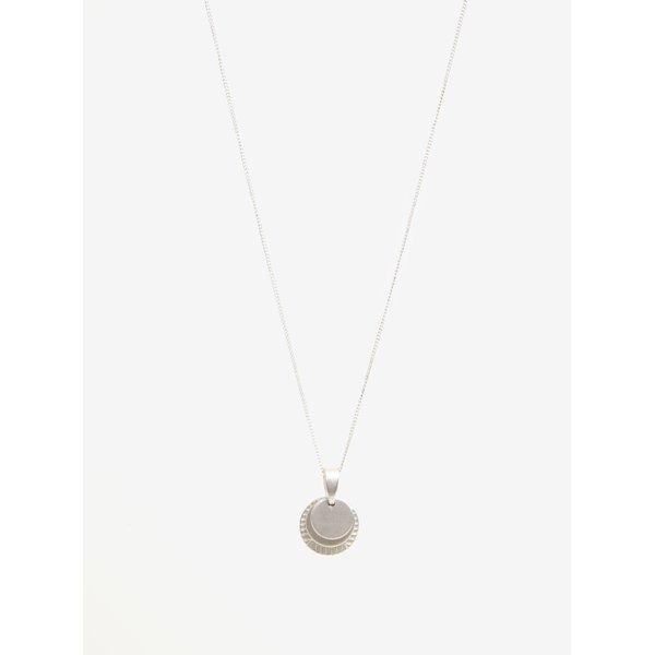 Colier argintiu cu pandantiv VILA Efj Layer Emblem