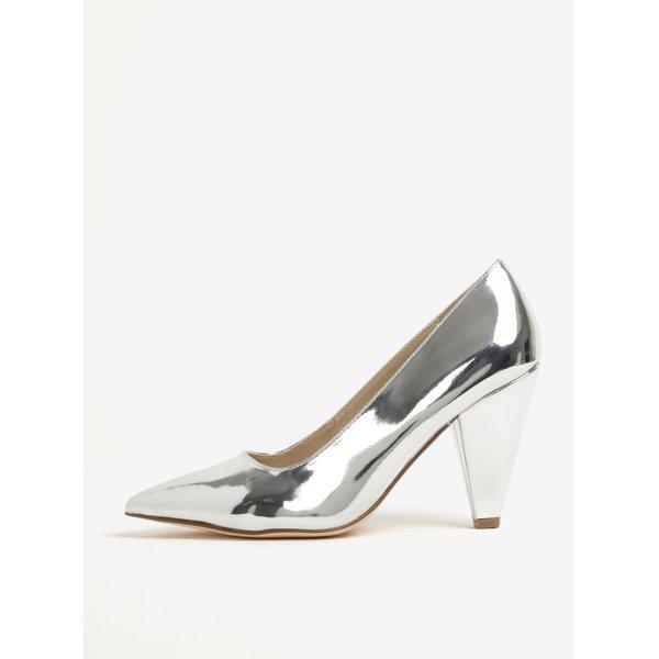 Pantofi argintii cu varf ascutit si toc conic - Miss Selfridge Leslie