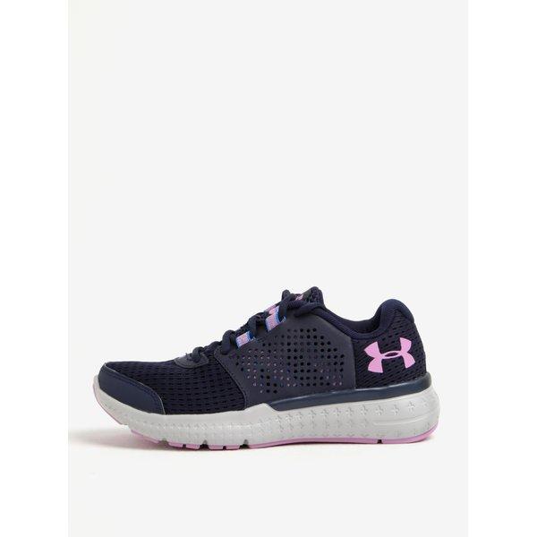 Pantofi sport bleumarin de alergare cu detalii din piele pentru femei - Under Armour Fuel