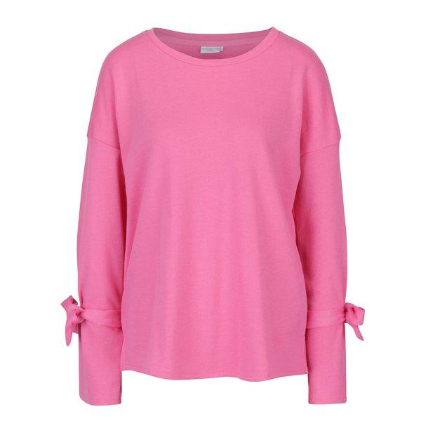 Bluza roz cu funde pe maneci Jacqueline de Yong Brace