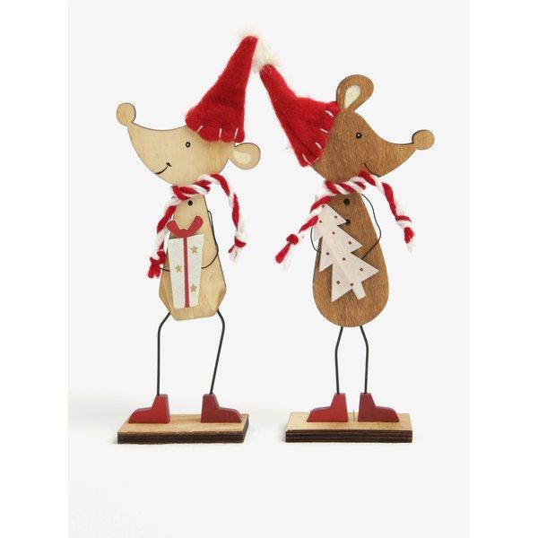 Set de 2 piese ornamentale de Craciun in forma de soricei – Sass & Belle