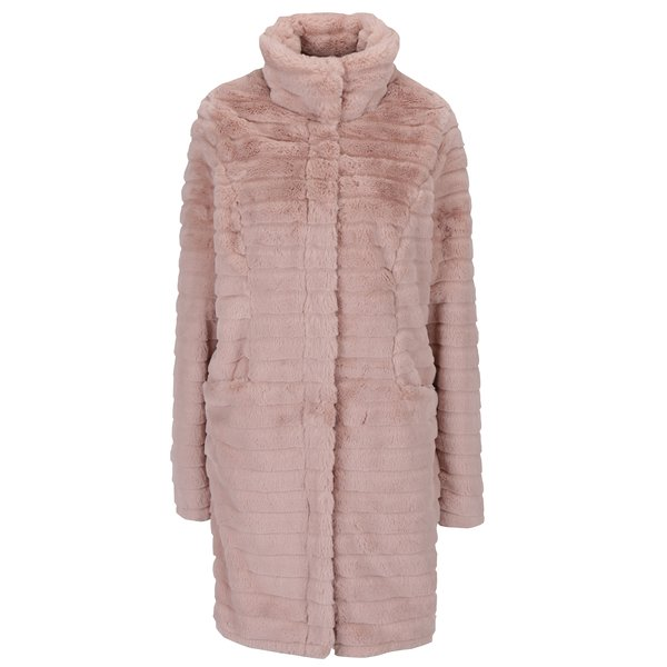 Jacheta roz pufoasa din blana artificiala - VILA Meria